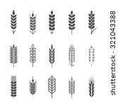 wheat ear icon set  graphic... | Shutterstock .eps vector #321043388