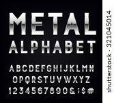 metal alphabet font. type... | Shutterstock .eps vector #321045014