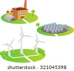 power stations. fun cartoon map ... | Shutterstock .eps vector #321045398