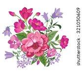 flower bouquet. floral frame.... | Shutterstock .eps vector #321050609