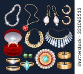 realistic jewelry accessories... | Shutterstock .eps vector #321062513