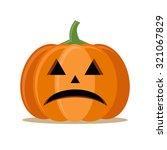 halloween vector funny pumpkin | Shutterstock .eps vector #321067829
