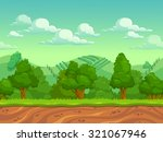 cute cartoon country seamless... | Shutterstock .eps vector #321067946