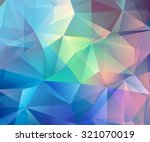 abstract colorful polygonal... | Shutterstock .eps vector #321070019