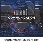 communication concept in hud...