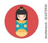 vector illustration of round... | Shutterstock .eps vector #321073934