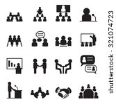 conference icon set | Shutterstock .eps vector #321074723