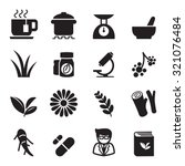 herb icon set | Shutterstock .eps vector #321076484
