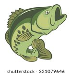 the figure shows a fish bass | Shutterstock .eps vector #321079646