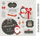 cute vector set of christmas... | Shutterstock .eps vector #321080543