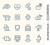 medical icon set | Shutterstock .eps vector #321080846