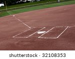 a view of a softball diamond at ... | Shutterstock . vector #32108353