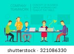 people team sitting and working ... | Shutterstock .eps vector #321086330