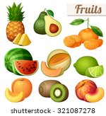 set of food icons isolated on... | Shutterstock .eps vector #321087278