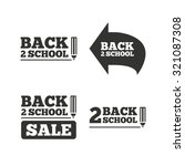 back to school sale icons.... | Shutterstock .eps vector #321087308