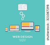 web design infographics... | Shutterstock .eps vector #321087398