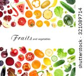 collection of fruits and... | Shutterstock . vector #321089714
