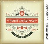 christmas set   labels  emblems ... | Shutterstock .eps vector #321090320