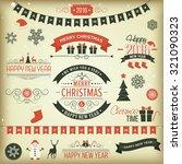christmas set   labels  emblems ... | Shutterstock .eps vector #321090323