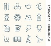 science icon set   Shutterstock .eps vector #321090626