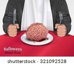 halloween menu   human brain