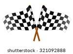 checkered flag | Shutterstock .eps vector #321092888