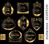 gold framed labels   vector set | Shutterstock .eps vector #321095144