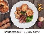 traditional british sunday... | Shutterstock . vector #321095390