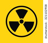 radiation symbol in circle .... | Shutterstock .eps vector #321102908