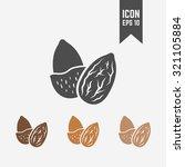 almond isolated vector black... | Shutterstock .eps vector #321105884