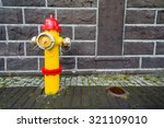 Icelandic Fire Hydrant. Yellow...
