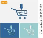 shopping cart with arrow vector ...