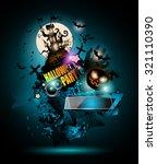 halloween night event flyer... | Shutterstock .eps vector #321110390
