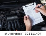 mechanic repairman inspecting... | Shutterstock . vector #321111404