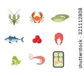 Flat Style Modern Sea Food Web...