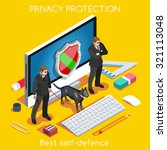 device online protection 3d... | Shutterstock .eps vector #321113048