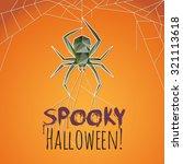 spooky halloween spider   Shutterstock .eps vector #321113618