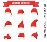 santa claus hat vector set | Shutterstock .eps vector #321115553