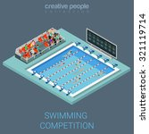swimming pool competition flat... | Shutterstock .eps vector #321119714