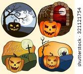 halloween vector illustrations... | Shutterstock .eps vector #321121754