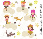 children's background autumn | Shutterstock .eps vector #321125588
