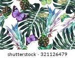 pineapples  tropical jungle... | Shutterstock .eps vector #321126479