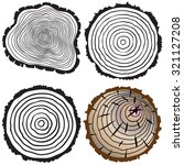 tree rings background and saw... | Shutterstock . vector #321127208