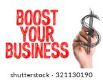 hand with marker writing  boost ...   Shutterstock . vector #321130190