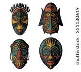 Set Of African Ethnic Tribal...