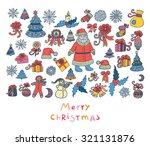 vector christmas set | Shutterstock .eps vector #321131876