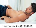 portrait of a young man... | Shutterstock . vector #321134018