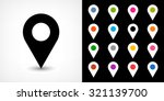 map pin sign location icon with ... | Shutterstock .eps vector #321139700