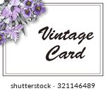 greeting card with flowers ... | Shutterstock . vector #321146489