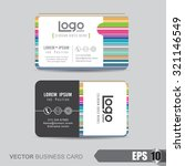 business card template vector... | Shutterstock .eps vector #321146549